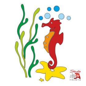 Vetrofania Cavalluccio marino