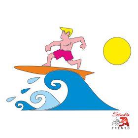 Vetrofania Surfer