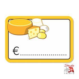 cartelli segnaprezzi PVC reparto formaggi