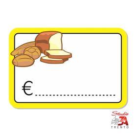 cartelli segnaprezzi PVC reparto pane