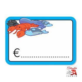 cartelli segnaprezzi PVC reparto pesce