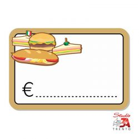 cartelli segnaprezzi PVC reparto panini