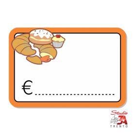 cartelli segnaprezzi PVC reparto dolciumi