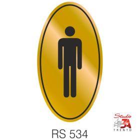 RS534 - Toilette simbolo uomo