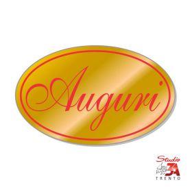 200 etichette adesive sagomate chiudipacco oro auguri, spellicolate e pronte all'uso