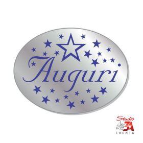 224 etichette adesive sagomate chiudipacco argento auguri, spellicolate e pronte all'uso