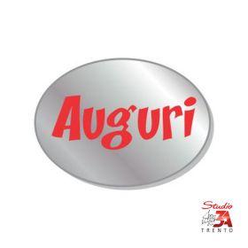 200 etichette adesive sagomate chiudipacco argento auguri, spellicolate e pronte all'uso
