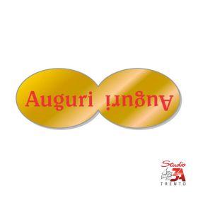 200 etichette adesive sagomate chiudipacco oro auguri doppio, spellicolate e pronte all'uso