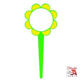 Cartelli segnaprezzi PVC Fiore con punta per fiorai diametro 10