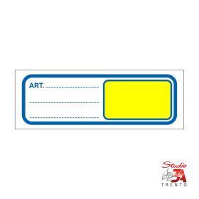 Cartelli segnaprezzi PVC Rettangolino 10x3,5 (misura per fronte scaffali)