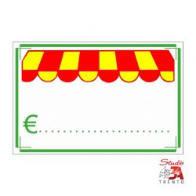 Cartelli segnaprezzi PVC Rettangolo 16x10,5 ortofrutta