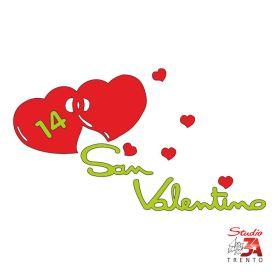 Vetrofania Cuori con scritta S.Valentino