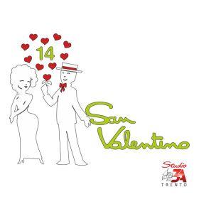 Vetrofania Innamorati S.Valentino