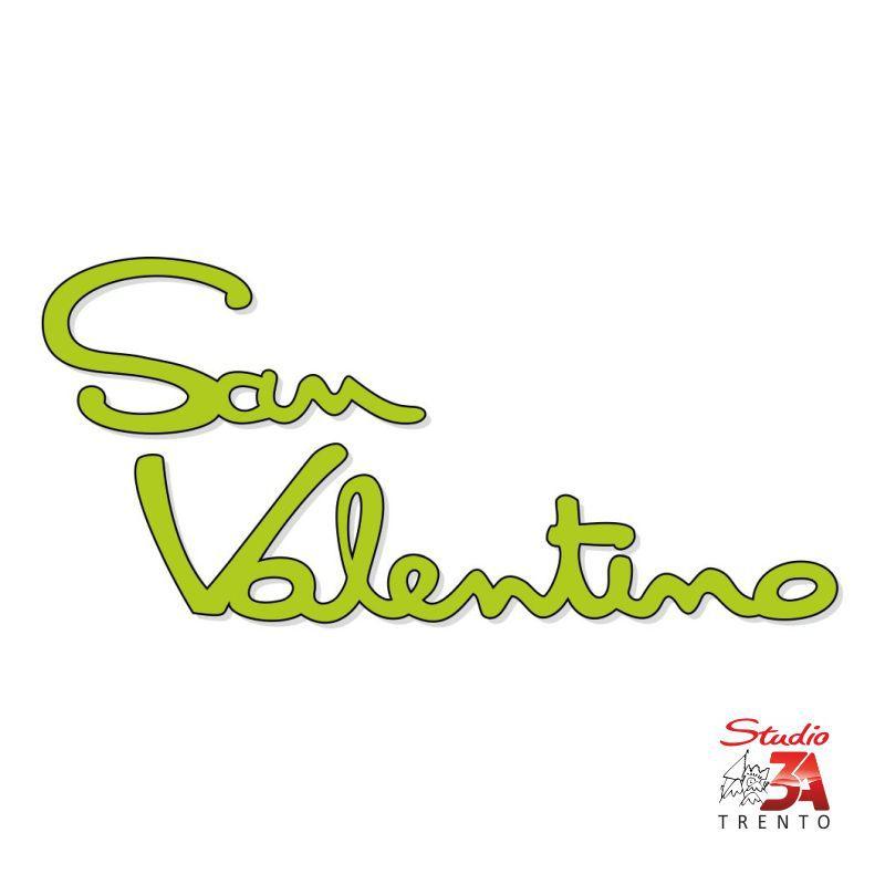 Vetrofania scritta S.Valentino verde