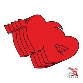 Stickers adesivi mini cuori s.valentino