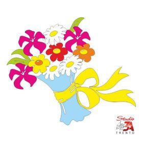 Vetrofania Mazzo di fiori