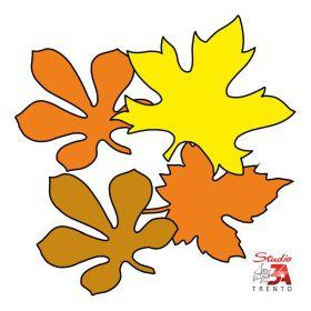 Stickers adesivi mini foglie autunnali