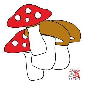 Stickers adesivi mini funghi