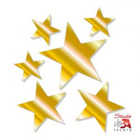 Stickers adesivi stelle assortite