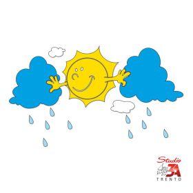 Vetrofania Sole e nuvole