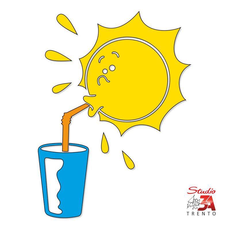 Vetrofania Sole assetato