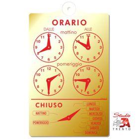 OR700/O - Cartello orario...